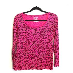 FREE WITH BUNDLE PINK LEOPARD TOP by NO BOUNDARIES